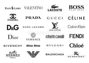 Brand Name Iron On Logo Transfers Mixed Lot 10 Logos tommy nike adidas versace