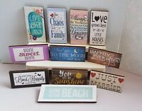 Shabby chic WOODEN SIGN Modern 1:12th scale dolls house Beach Picture Ornament