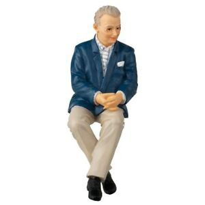 Doll house doll resin (Charles) sitting older man Made for Houseworks 1:12 scale