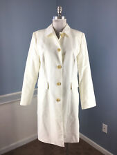 Banana Republic L white Rain Jacket trench Coat Excellent Water resistant WOW!