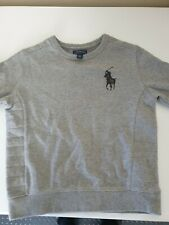 RALPH LAUREN POLO BOYS GREY SWEATSHIRT LARGE LOGO SIZE 7