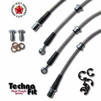 Stainless Steel Braided Brake Line Techna-Fit FRONT REAR Set NIS-1525 fit Altima