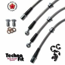 Stainless Steel Braided Brake Line Techna-Fit FRONT REAR Set Fits Evo X MIT-1025
