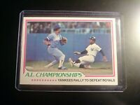 1978 TOPPS #411 AL Championships Yankees Rally to Defeat Royals NrMT NM