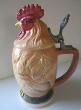Vintage Ceramic Figural Chicken Rooster Lidded Beer Stein Japan Aa Importing Co.