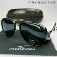 HOT Carre ra Men Women Retro Sunglasses Windproof Matte Frame Glasses FOR Gift