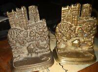 Vintage durham cathedral  cast metal bookends