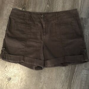 "SONOMA WOMENS ""original short"" WOMENS BROWN SHORTS Plus- size 16"