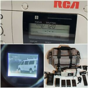 VINTAGE 1991 RCA Pro 8 Video Camera 8MM Pro 820 Camcorder White WORKING