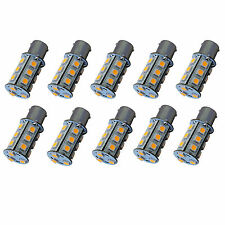 10x HQRP 1141 BA15s Bayonet Base 18-SMD LED Bulbs for Casita RV Interior Lights