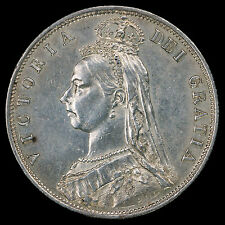 1887 Queen Victoria Jubilee Head Silver Half Crown – GVF / AEF