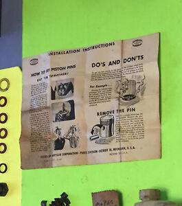 MOPAR piston ring instruction form.  Item:  9065b