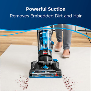 BISSELL Deep Carpet Cleaner Powerforce Helix Bagless Upright Vacuum Hair Remover