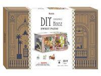 Robotime DIY Miniature House SWEET PATIO 3D Wooden Model Kit NEW