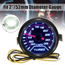 52mm 2″ Digital LED Turbo Boost Meter Pressure Gauge Smoke Face Tint 35 PSI New