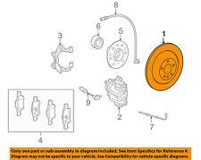 MERCEDES OEM 09-12 R350 Rear Brake-Rotor 1644231212