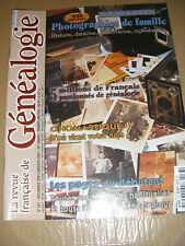 La revue fraçaise de généalogie N°137 Photographie de famille Onomastique