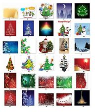 Personalized Return Address Christmas Trees Labels Buy 3 get 1 free (cs6)