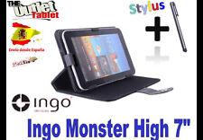 "FUNDA STAND NEGRA TABLET MONSTER HIGH 7"" UNIVERSAL BARATA STAND INGO"