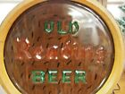 Old Reading Beer Reading, Pa. Berks Reverse Painted Glass Front Barrel End Light