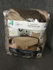 Mainstays Seersucker Comforter Set 2 Piece Twin XL Tan Brown M6A