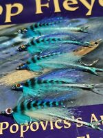 3x ultimate BASS Saltwater flies size2 9cm BABY MACKREL fly orvis fulling mill