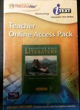 Prentice Hall Literature : PH SuccessNet TeacherS Online Access Pack  GOLD LEVEL