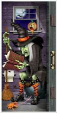 HALLOWEEN WITCH RESTROOM DOOR COVER PARTY WALL DECORATION POSTER BANNER SPELLS