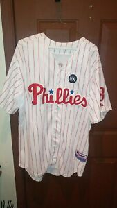 Shane Victorino Phillies Jersey Size 52 HK And 2009 World Series Patch