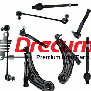 8Pc Lower Control Arm w/Ball Joint Tie Rod Sway Bar Link SET For Aveo Wave Swift