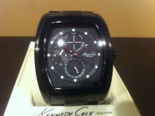 KENNETH COLE NEW YORK  BLACK MULTI-FUNCTION MEN'S WATCH #KC9064 (NEEDS BATTERY)