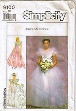 Wedding Bridesmaid Dress Tulle Ruffle Yoke Gored Tier Skirt Petticoat Pattern 10