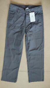 Bienzoe Boy's School Uniform Flat Front Twill Adjust Waist Trousers Age 12 Years