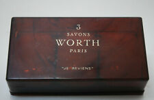"Worth ""je reviens""   3 soap box 100 gr each vintage"