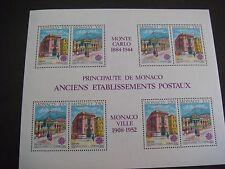 MONACO 1990 Europa. Post Office Buildings M/Sheet  SG MS1985 MNH Cat £48.00