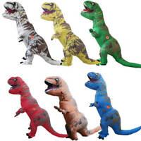 Adult T-Rex Raptors Jurassic Inflatable Dinosaur Costume Fancy Dress Party Props