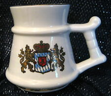 Pretty Prinknash Pottery tankard tiny with Coat of arms approx 2.75 ins tall