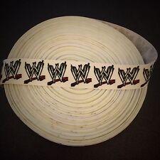 "7/8"" Wwe World Wrestling Entertainment Grosgrain Ribbon by the Yard (Usa Seller)"