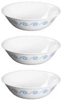 Corelle OCEANVIEW Blue Cereal Soup Bowls SET OF 3 swirls waves