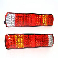 2 x 24v Led Rear Lights Lamps Tail Fog Lorry Chassis For Scania Volvo Daf