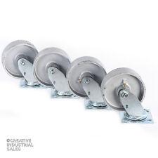 """6"""" x 2"""" Swivel Casters Steel Wheel 1200lb ea Heavy Duty Tool Box(4)"""