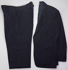 Corneliani Tuxedo 42R Black Mens Vtg Italy Wool Silk Blend Faint Stripe Sz 35x34