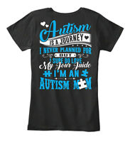 Autism Mom- - Mom Is A Journey I Never Planned For Women's Premium Tee T-Shirt