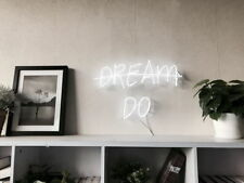 New listing New Dream Do Neon Sign For Bedroom Wall Home Decor Artwork Light With Dimmer