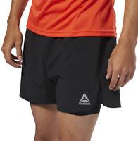 Reebok Speedwick 2 In 1 Mens Running Shorts Black Twin Short Training Workout