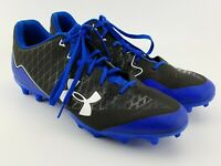Under Armour Mens UA Nitro Select Low Cleats SIZE 14 Black Blue 3019992-007 EUC
