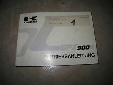 GPZ 900 R ZX900A A6 1989 Fahrer Handbuch Bedienungsanleitung Owner s manual