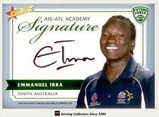 2012 Select AFL Future Force Cards Signature FFS5 Emmanuel Irra