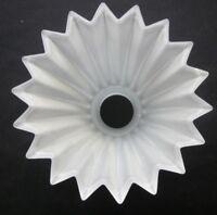 Vintage Glass Wall Sconce Lamp Shade Starburst Sunburst Flower Pointed Rim Edges