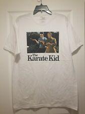 New Karate Kid Danny Mr Miagi Training Adult Large White Cotton 80s Film T-Shirt